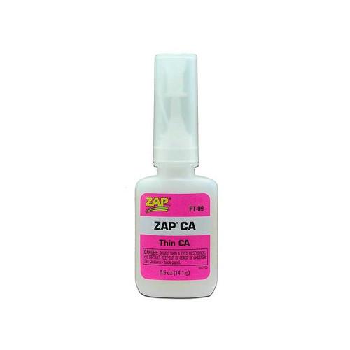 Zap CA Thin Viscosity Glue in 1/2 oz. bottle