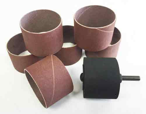 """Sanding Sleeves and Sanding Drum that are 2"""" in diameter and 1 1/2"""" long."""