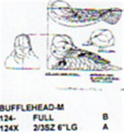 Bufflehead On Water/Head Back Carving Pattern showing the Stiller pattern.