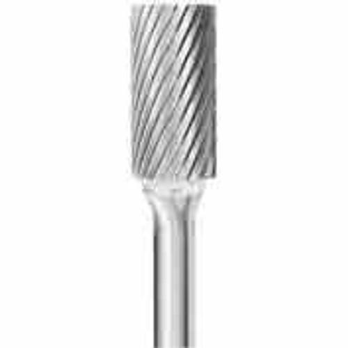 """Carbide 3/8"""" Cylinder Burr showing close up of bur."""