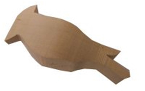 Cedar Waxwing Basswood Cutout