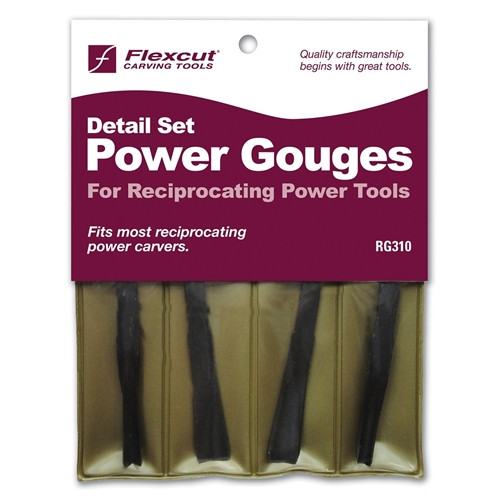 Bring your carving to a new level with Flexcut Detailing Power Gouge Set of blades.