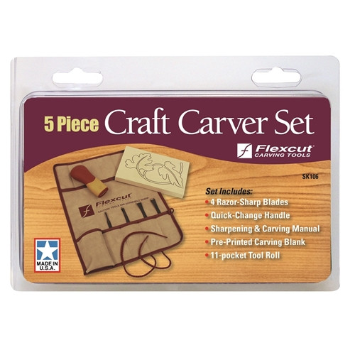 Flexcut 5 Pc. Craft Carver Set is great for traveling or on the go type projects.