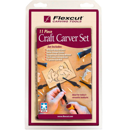 Flexcut 11 Pc. Craft Carver Set is a great buy with project and instructions included.