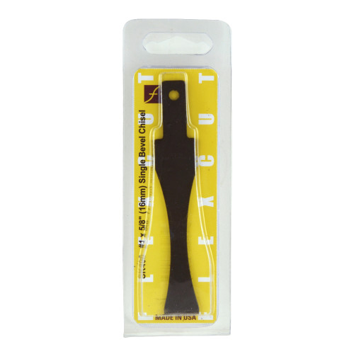 "Flexcut Interchangeable #1 x 5/8"" Single Bevel Chisel shown in it's original package."