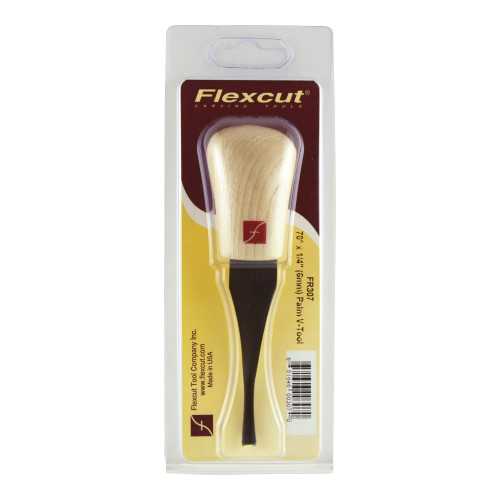 """Flexcut FR307 Palm  70° x 1/4"""" V-Tool shown is 5"""" long with a 3"""" blade."""