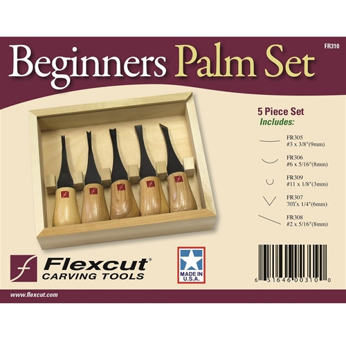 Flexcut Beginner's Palm Set shown in the original package.
