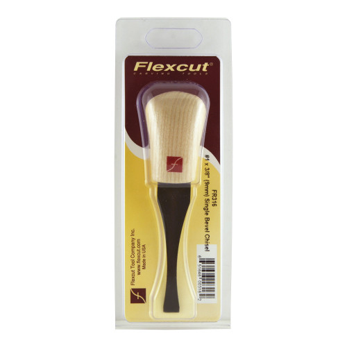 "Flexcut FR316 Palm Carving  #1 x 3/8"" Chisel shown in it's original package."