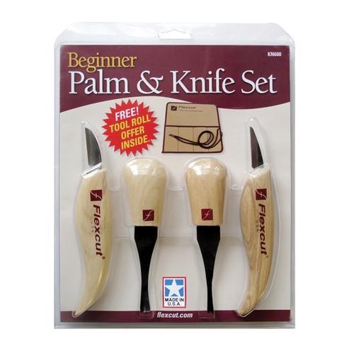 Flexcut KN600 Beginner Palm & Knife Set