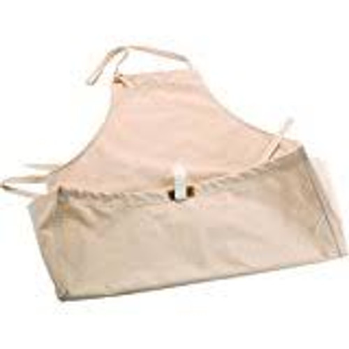 Carver's Apron with Pouch shown  on a flat surface.