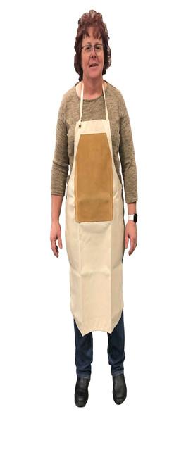 Carver's apron on model.