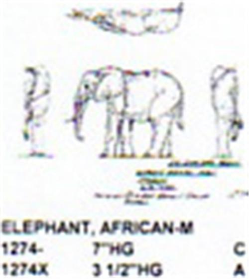 "African Elephant Standing 3 1/2"" High"