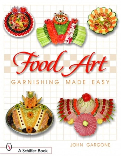 Food Art: Garnishing made easy with  John Gargone takes the readers step-by-step with over 370 amazing color photographs through the process of creating garnishes that are beautiful works of edible art.