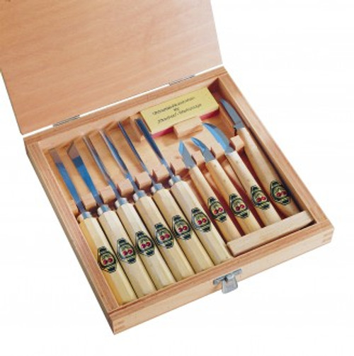 Two Cherries Boxed Set of 11 Carving Tools