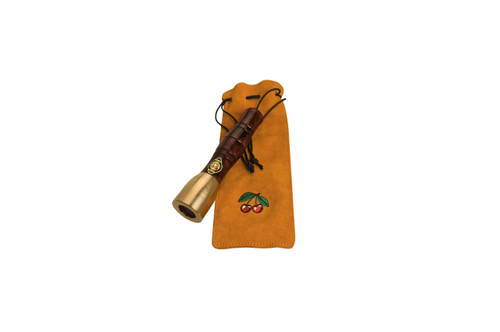 Two Cherries Bronze Mallet with Beech Handle and leather pouch.