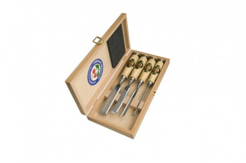 Two Cherries Problem Solver Chisel Set in a Wooden Box.