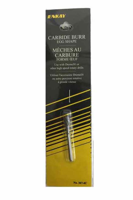 Egg Shaped Carbide burr in packaging.