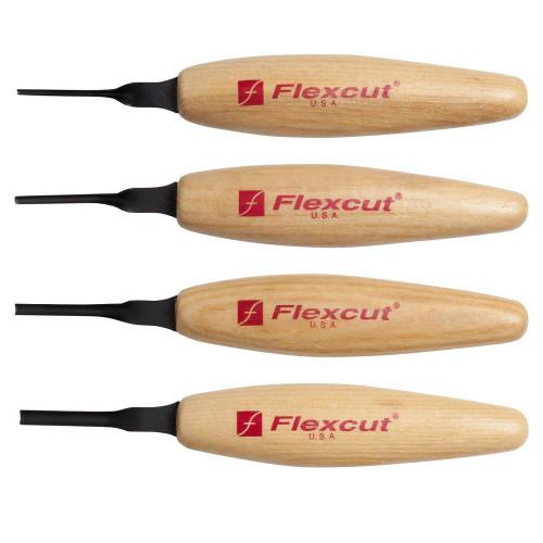 Flexcut MT 300 Sweeps Micro Tool Set 4 pc micro tool set.