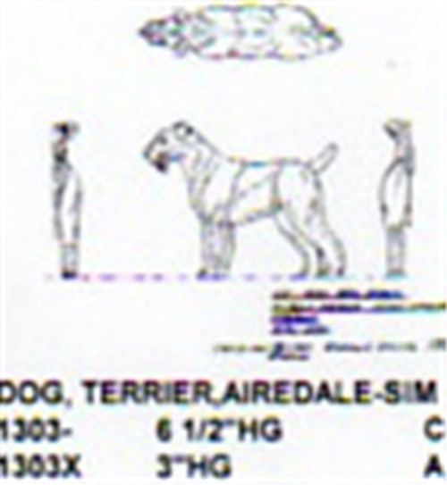 """Airedale Terrier Standing 3"""" High"""