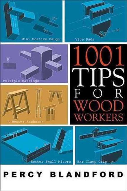 1001 Tips For Wood Workers contains images of bar clamp grip, vice pads, mini mortice gauge, sawhorse and small miters.