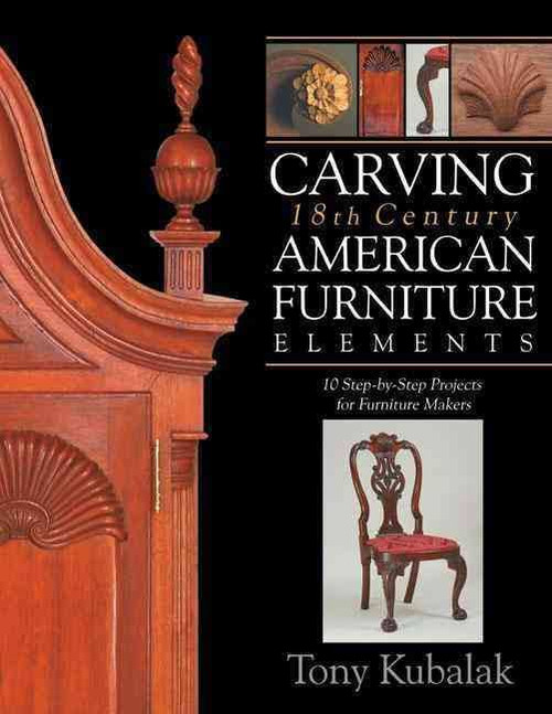 Carving 18th Century American Furniture Elements with Tony Kubalak contains images of Shell on Knee carving Chair with Motifs