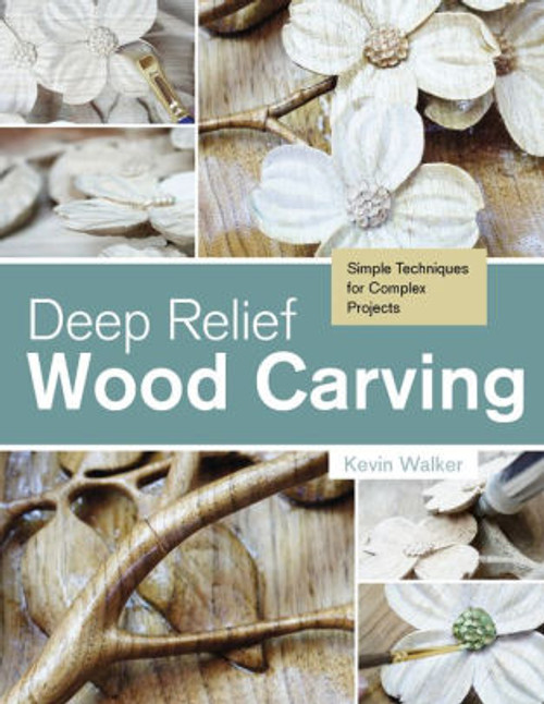Deep relief Wood Carving contains images of wood carved flowers, and wood working tools.
