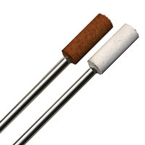 """Aluminum Oxide Point 3/16"""" Cylinder (red) Coarse grit and (White) Fine grit."""