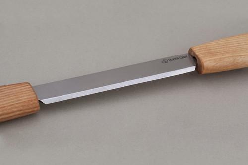 Beaver Craft Draw Knife showing razor sharp blade.