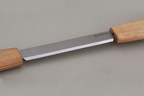 Beaver Craft Draw Knife showing razor sharp blade.