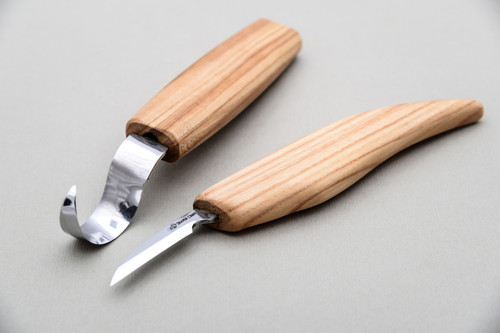 Beaver Craft Spoon Carving Detail Set showing both knives.