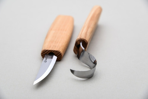 Beaver Craft Spoon Carving Tool Set shown from front profile.