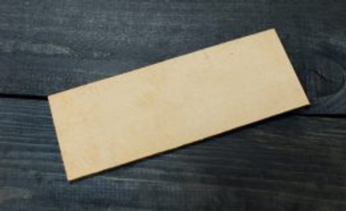 Beaver Craft Leather Polishing Strop showing back side of leather.