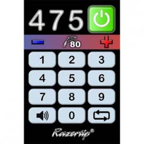 Razertip Pyrography P80 Base Unit illuminated keypad.