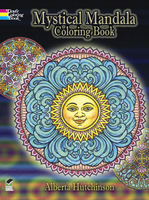 Mystical Mandala Coloring Book shows intricate colorful patterns.