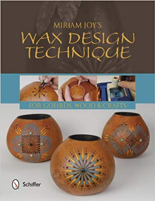 Wax Design Techniques showing three different wax designs on gourds.