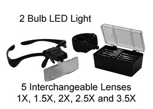 Magnifier Headband with LED light