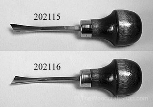 """Ramelson #7 x 5/16""""  8mm Left Handed Skew Gouge showing both right and left handed skew gouges."""