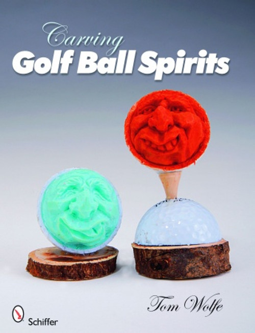 Carving Golf Ball Spirits showing hand carved golf balls.