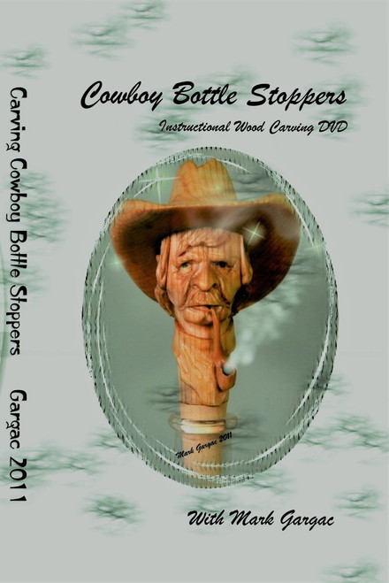 Cowboy Bottle Stoppers DVD showing the wooden bottle stopper you can make.