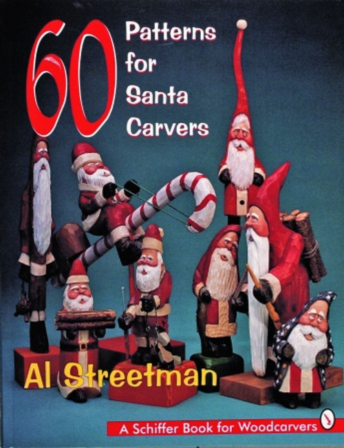 60 Patterns for Santa Carvers showing the different Santa's you can carve.