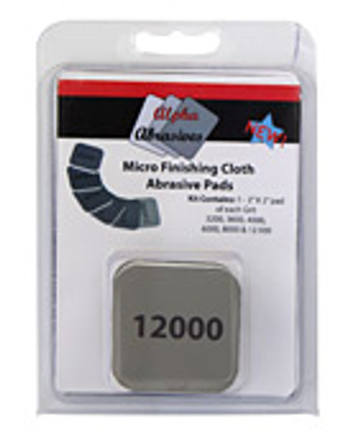 Micro Finishing Abrasive pads in clamshell.