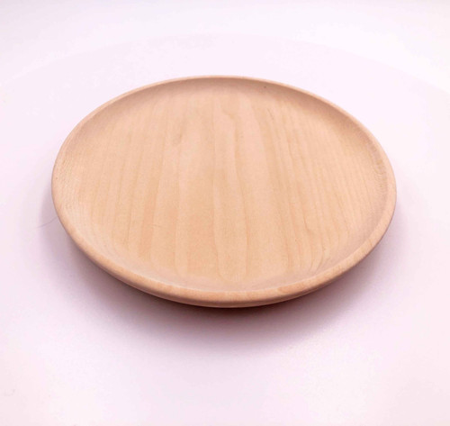 Showing the top and edge of the basswood scoop plate.