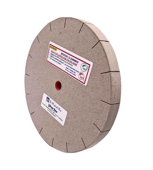 "The razor sharp 6"" deluxe slotted wheel shown on edge."