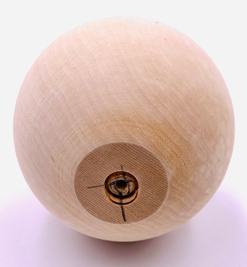 The bottom of the Basswood Ball is flat.