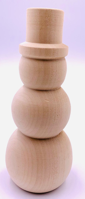 Basswood Frosty The Snowman showing the front profile of the Snowman.