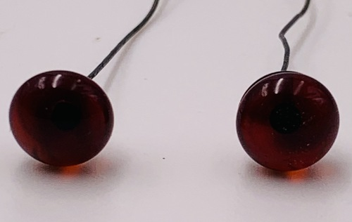 7mm Dark Red Eyes On Wire