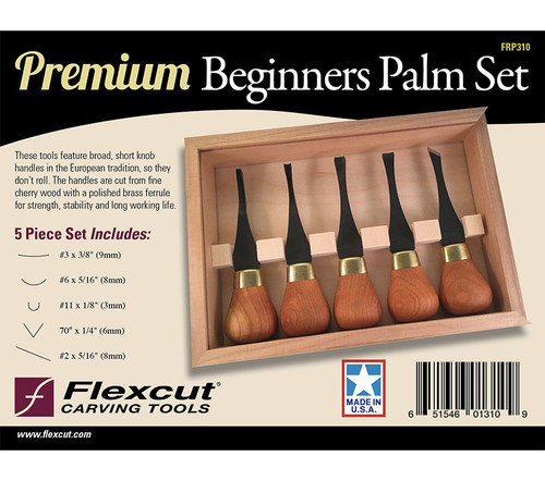 Flexcut Premium Beginners Palm Set shown in the original package.