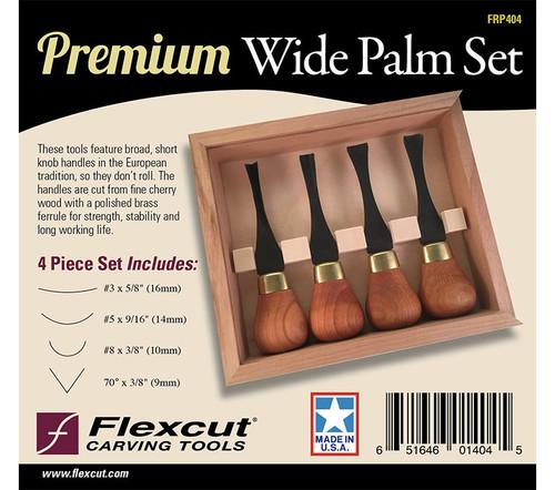 Flexcut Premium Wide Palm Set shown in the original package