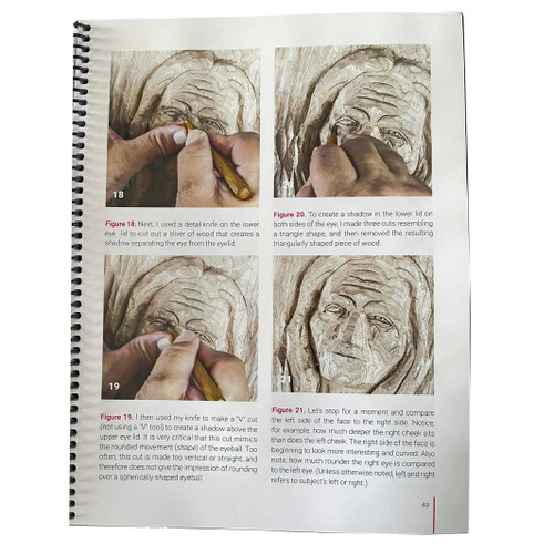 Illustrated instruction from the book From Good to Great Woodcarving showing how to do some of the details to make your woodcarving great.