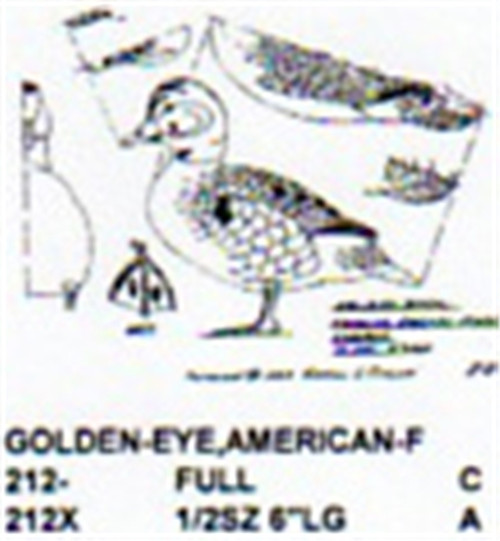 American Golden Eye Standing Carving Pattern showing the Stiller pattern of the Female Golden Eye.